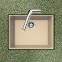 Houzer G-100U SAND Granite Undermount Single Bowl Kitchen Sink, Sand