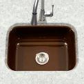 Houzer PCS-2500 ES Porcelain Enamel Steel Undermount Single Bowl, Espresso