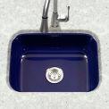 Houzer PCS-2500 NB Porcelain Enamel Steel Undermount Single Bowl, Navy Blue