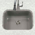 Houzer PCS-2500 SL Porcelain Enamel Steel Undermount Single Bowl, Slate