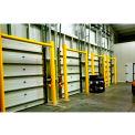 """Ideal Shield® Goal Post Dock Door Guard, Steel & HDPE Plastic, Yellow, 96"""" x 96"""""""