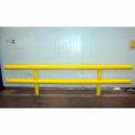 "Ideal Shield® Heavy Duty Two-Line Guardrail, Steel & HDPE Plastic, Yellow, 72"" x 27"""