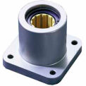 "DryLin® R Straight Bearings FJUI-11-12 3/4"" Polymer Linear 4 Bolt Flange Bearing"