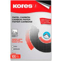 "Kores® Carbon Paper, 8-1/2"" x 11"", Black, 100 Sheets/Pack"