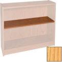 "Extra Shelf - 34-1/2""W x 11-1/2""D x 1"" Thick for Adj. Bookcase Natural Oak"
