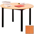 "Round Library Table - 60""W x 60""D x 25""H Oiled Cherry"