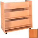 "Book Truck - 6 Shelves - 42""W x 18""D x 42-1/2""H Oiled Cherry"