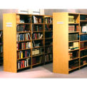 "84"" Double Face Shelving Base - 37""W x 24""D x 83-3/4""H Amber Ash"