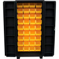 "Jamco Bin Cabinet DV236-BL - 14 ga. 4"" Deep Pocket Door 36 Bins, 36""W x 24""D x 78""H, Black"