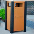 Jayhawk Recycled Plastic 32 Gallon Ridgeview Receptacle, Cedar