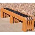 Jayhawk Recycled Plastic 6 Ft. Gateway Bench, Cedar