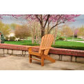 Jayhawk Plastics Seaside Adirondack Chair, Cedar