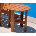 Jayhawk Plastics Traditional Adirondack Side Table, Cedar