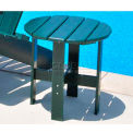 Jayhawk Plastics Traditional Adirondack Side Table, Green