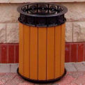 Jamestown Receptacle, Recycled Plastic, 20 Gal., Cedar