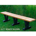 Basic Bench, Recycled Plastic, 4 ft, Cedar