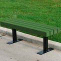 Trailside Bench, Recycled Plastic, 4 ft, Green
