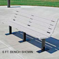 Contour Bench, Recycled Plastic, 4 ft, White