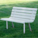 St. Pete Bench, Recycled Plastic, 4 ft, White