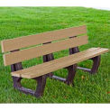 Petrie Bench, Recycled Plastic, 6 ft, Cedar