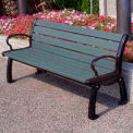 Heritage Bench, Recycled Plastic, 5 ft, Black Frame, Gray