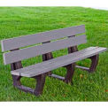 Petrie Bench, Recycled Plastic, 6 ft, Gray