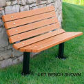 Contour Bench, Recycled Plastic, 6 ft, In Ground Mount, Cedar