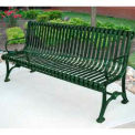 Blair Bench, Steel, 6 ft, Green