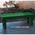 Garden Bench, Recycled Plastic, 6 ft, Green