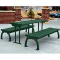 Heritage Table, Recycled Plastic, 6 ft, Green Frame, Green