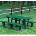 Lenexa Table, Recycled Plastic, 6 ft, Green
