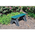 Sport Bench, Recycled Plastic, 6 ft, Green