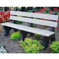 Colonial Bench, Recycled Plastic, 6 ft, White