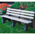 Comfort Park Avenue Bench, Recycled Plastic, 6 ft, White