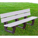 Petrie Bench, Recycled Plastic, 8 ft, White