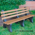 Central Park Bench, Recycled Plastic, 8 ft, Cedar