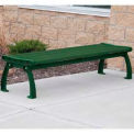 Heritage Backless Bench, Recycled Plastic, 8 ft, Green Frame, Green
