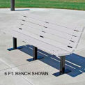 Contour Bench, Recycled Plastic, 8 ft, White