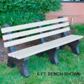 Central Park Bench, Recycled Plastic, 8 ft, White
