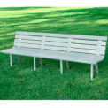 St. Pete Bench, Recycled Plastic, 8 ft, White