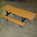 A-Frame Table, Recycled Plastic, 6 ft, Cedar, ADA