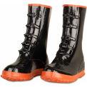 Enguard 5 Buckle Overshoe Boots, Rubber, Black, Size 15, 1 Pair