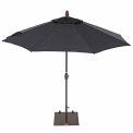TrueShade® 9' Market Umbrella - Push Button Tilt - Black