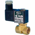 "Jefferson Valves, 1/4"" 2 Way Solenoid MicroValve120V AC Forged Brass Compact Body"