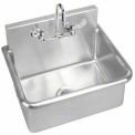 Just Surgeon'S Wash-Up Sink, Wall Hung, 14 Gauge,W/Faucet, Mixing Valve, & Drain, JS122T