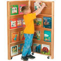 Jonti-Craft® Mobile Library Bookcase - 2 Sections