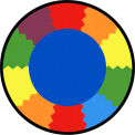 "Joy Carpets Block Party™ Classroom Carpets 13'2"" Round, Multi - 1672XLE"