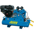 Jenny® Wheeled Portable Compressor G9HGA-8P, 9HP, Honda Rope Start, 125 PSI, 8 Gal