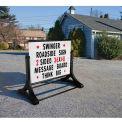 "Magic Master Roadside Standard Message Board Sign 48""W X 36""H-White"