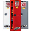 "Justrite 36 Gallon 1 Door, Self-Close, Slimline, Flammable Cabinet, 23-1/4""W x 18""D x 65""H, Red"
